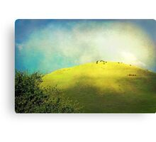 Cows on a Hill Canvas Print