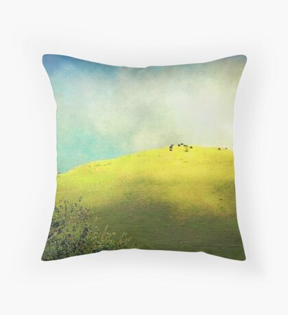 Cows on a Hill Throw Pillow
