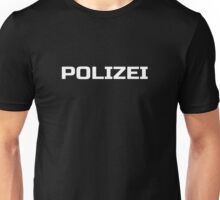 Black German Police - Die Polizei - Fashion T-Shirt Unisex T-Shirt