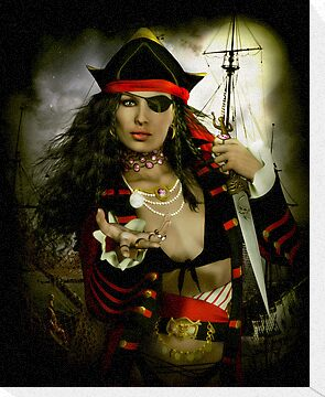 Heads You Lose! Pirate Art print & Card by Shanina Conway