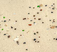 Beautiful Sea glass on the beach in Nassau, The Bahamas by 242Digital