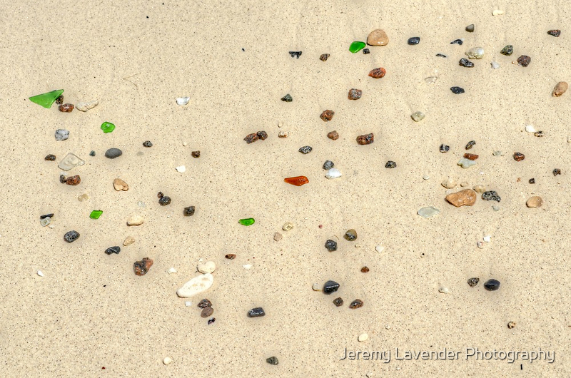 Beautiful Sea glass on the beach in Nassau, The Bahamas by Jeremy Lavender Photography