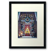 Gravity Falls Christmas Mystery Shack Framed Print
