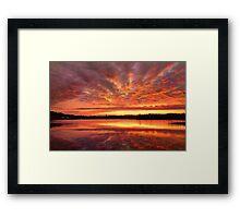 Red Burning Sky Framed Print