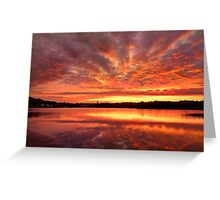 Red Burning Sky Greeting Card
