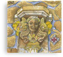 QR stone Canvas Print