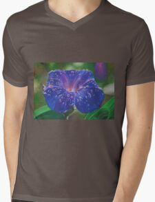 Deep Purple Morning Glory With Morning Dew T-Shirt