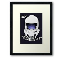 "Doctor Who - ""Hey Who Turned Out The Lights"" (Vashta Nerada) Framed Print"