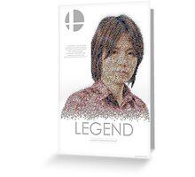 Masahiro Sakurai LEGEND by Joshua Redfearn Greeting Card