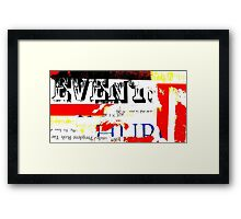 the past and the present Framed Print