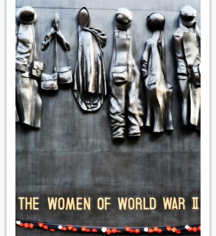 World War II Women Memorial  Sticker