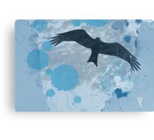 Bird In The Rain T-Shirt Canvas Print