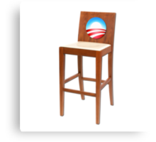 Obama Empty Chair Clint Eastwood Canvas Print