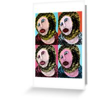 Pop-art fresco Greeting Card