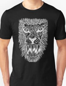 Monster Mondays #2 - Lionel Lion - Anger Monster! - White Lines T-Shirt