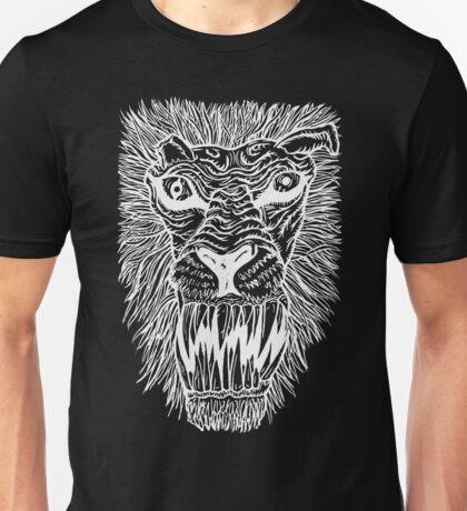 Monster Mondays #2 - Lionel Lion - Anger Monster! - White Lines Unisex T-Shirt