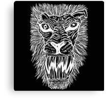 Monster Mondays #2 - Lionel Lion - Anger Monster! - White Lines Canvas Print