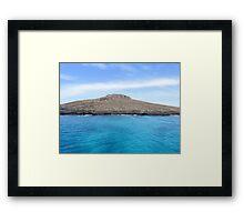 Island of Sombrero Chino. Framed Print