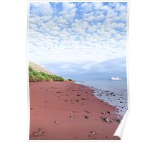 Red beach. Poster