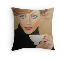 ANOTHER CUP OF COFFEE PLEASE Throw Pillow