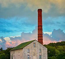 Barn and Smoke Stack by KellyHeaton