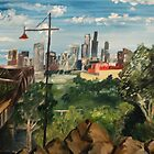Melbourne Skyline by Initially NO