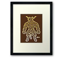 The Labyrinth in the Minotaur  Framed Print