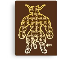 The Labyrinth in the Minotaur  Canvas Print