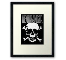 Headbanger Skull Framed Print