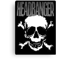 Headbanger Skull Canvas Print