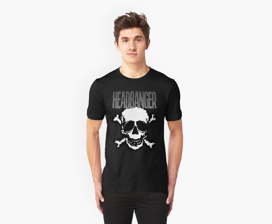 Headbanger Skull by MetalheadMerch