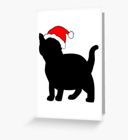 Kitten in a Santa Hat Greeting Card