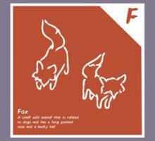 F is for Fox Kids Tee