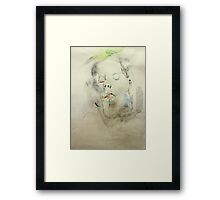 self portrait with eyes closed Framed Print