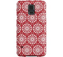 Red Rosette Samsung Galaxy Case/Skin