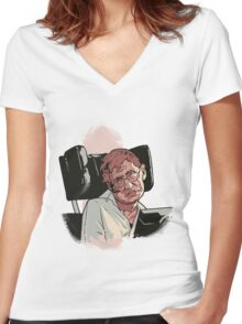 Stephen Hawking Women's Fitted V-Neck T-Shirt