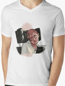 Stephen Hawking Mens V-Neck T-Shirt