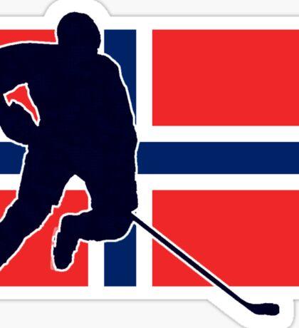 I Love Norge - Norway National Flag & Hockey Player Skjorte Sticker