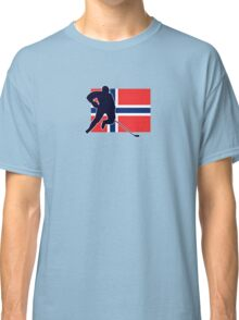I Love Norge - Norway National Flag & Hockey Player Skjorte Classic T-Shirt