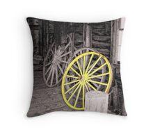 Wagon Wheel House Throw Pillow
