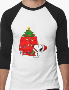 Snoopy christmas Men's Baseball ¾ T-Shirt