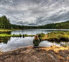 Meditating at the Lake near Grace Harbour by toby snelgrove  IPA
