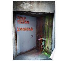 """Keep Clear - Loading"" Graffiti  Poster"