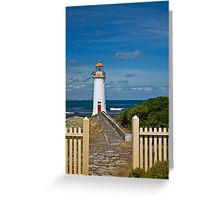 Griffith Island lighthouse at Port Fairy Greeting Card