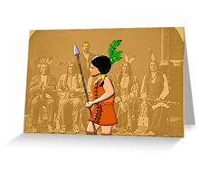 A Native Red Indian Girl of America Greeting Card