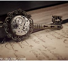 Gothic Steampunk Key Necklace by SKAIOR Designs