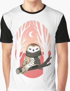 Winter Owl Graphic T-Shirt