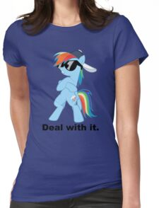 Deal with it Rainbow Dash Womens Fitted T-Shirt