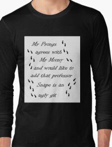 Marauders Map Mr Prongs Long Sleeve T-Shirt