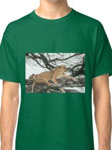 Tree Climbing Lions Classic T-Shirt